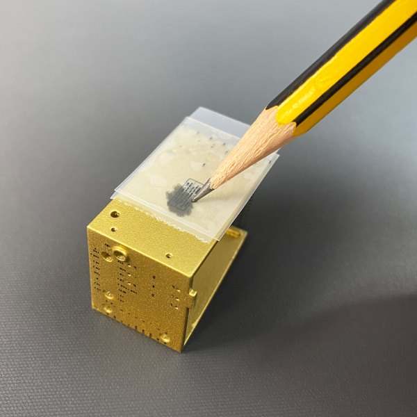 Rubbing transfer with pencil to apply to Gold Box