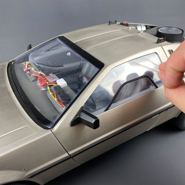 Driver's side window protector for Eaglemoss DeLorean