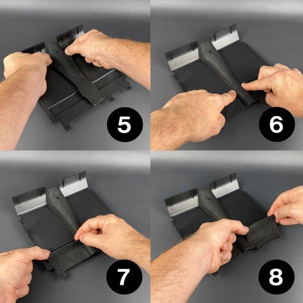 Ecto-1 Self-Adhesive Carpets installation steps 5–8
