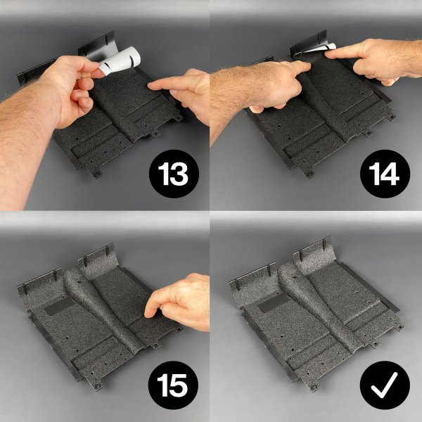 Ecto-1 Self-Adhesive Carpets installation steps 13–15