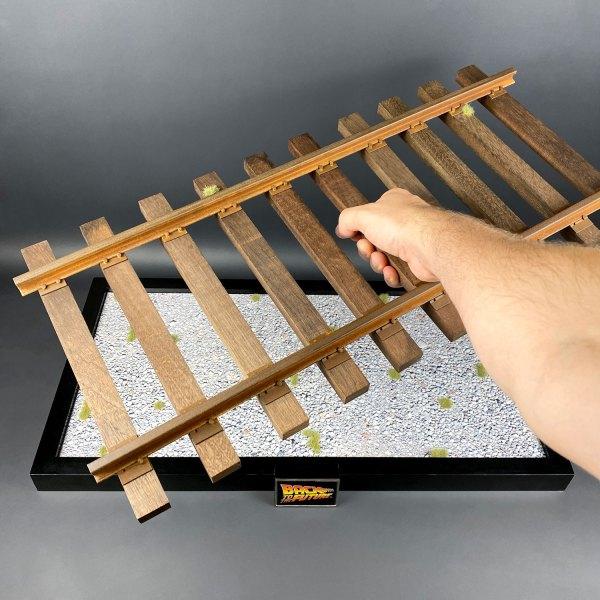 Placing completed Eaglemoss model railroad mod on base
