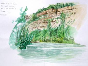 Rio Gallego. Huesca. Watercolor