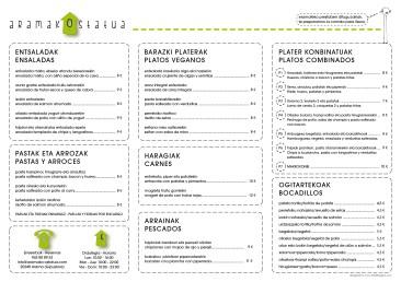 Salvamanteles menu
