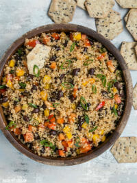 Smoky Quinoa and Black Bean salad recipe from Budget Bytes
