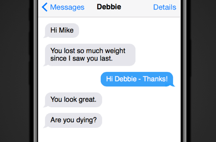 Reactions to weight loss