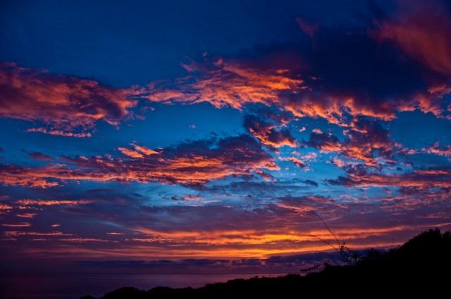 Wschód słońca nad Atlantykiem