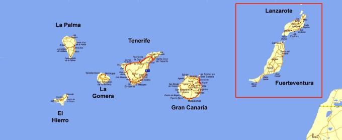 Wyspy wschodnie: Lanzarote, Fuerteventura