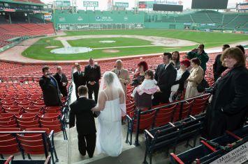 Davis-Flaherty Wedding at Fenway Park