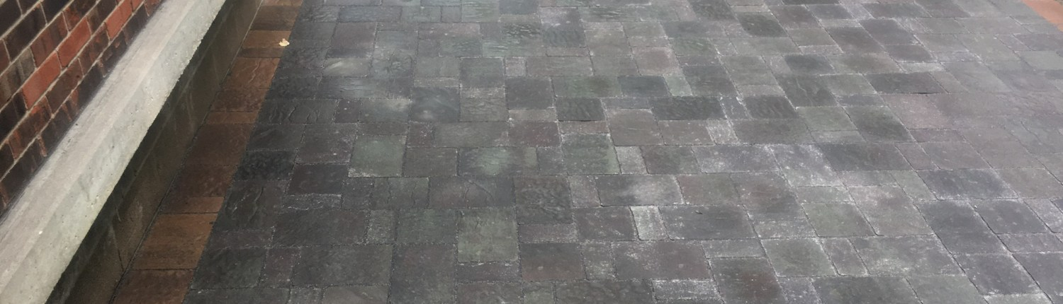 Close up of Paver Patio and Walkway