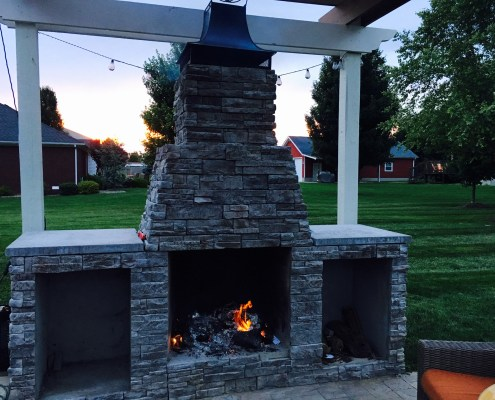 Outdoor Stone Fire Place