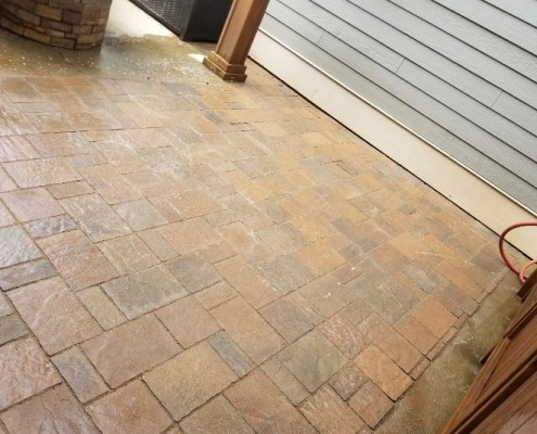 Close up Small Paver Patio