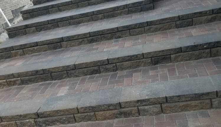 Close up of Paver Steps