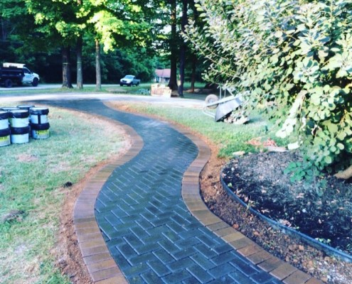 Paver Walkway with Clear Coat