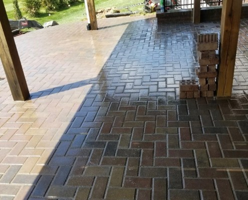 Paver Patio under Porch