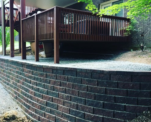 Retaining Wall around Deck