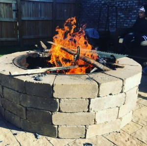 Close up Stone Fire Pit
