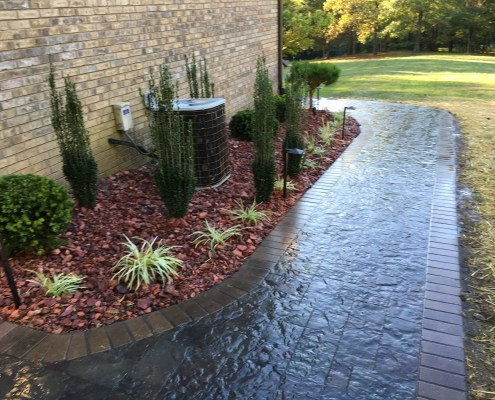 Paver Walkway with Brick Border 2