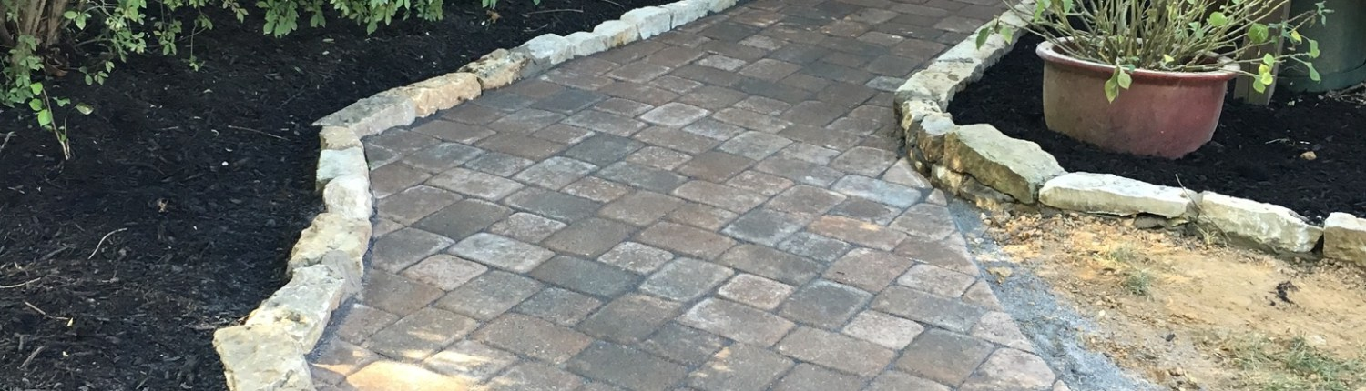 Paver walkway with Stone Border 2
