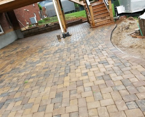 Paver Patio under Deck 2