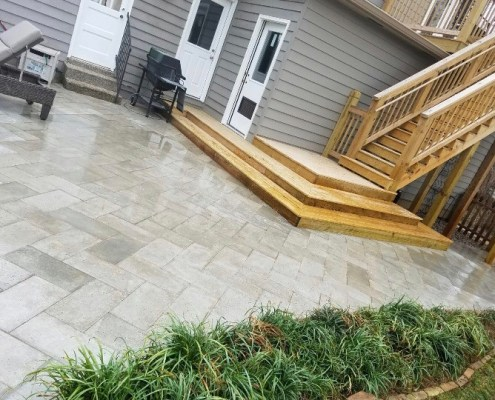Herringbone Paver Patio