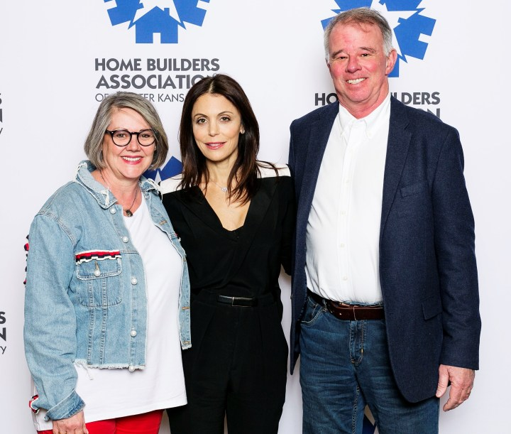 From left to right. Lee Pound, Bethenny Frankel and Mike Pound