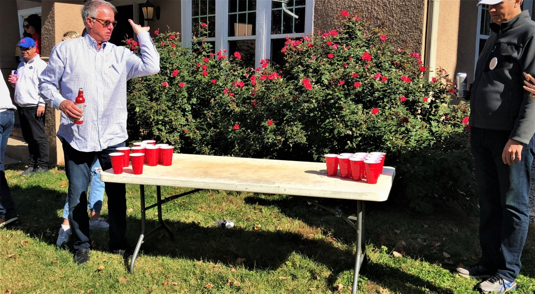 Here is a picture of me after letting go with a sucessful pong.