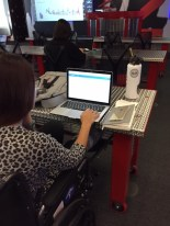 A participant at the Google News Lab training in Las Vegas works with Google Trends.