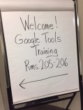 Sign directing attendees to the St. Louis training.