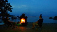 Chillin' at clear Lake, Iowa at Bethusela's Lake Cabin