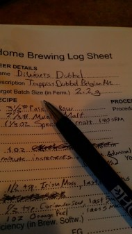 Here's my log book notes for Diwiart's Dubbel.