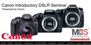 Canon EOS DSLR introductory seminar @ SIE Film Center