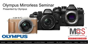 Olympus mirrorless introductory seminar @ Mike's Camera, Sacramento