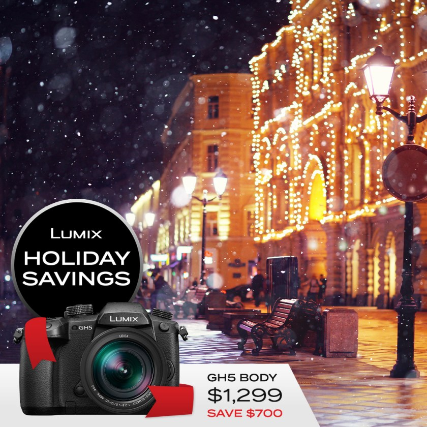 Lumix GH5 body only $1299 Save $700