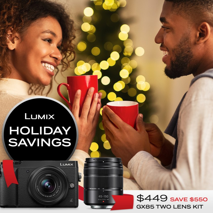 Lumix GX85 two-lens kit $449 Save $550