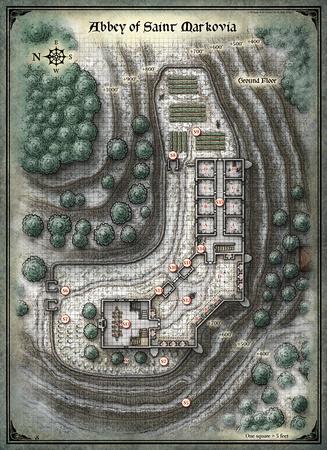 Mike Schley: Curse of Strahd &emdash; Curse of Strahd; Abbey of Saint Markova 1 (Digital DM & Player Versions) $1.75