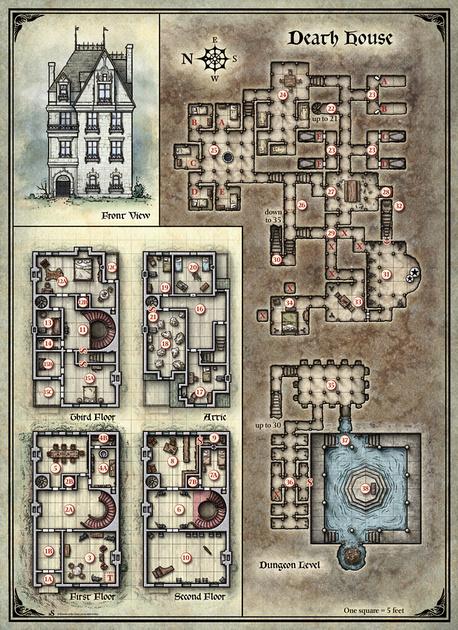 Mike Schley: Curse of Strahd &emdash; Curse of Strahd; Death House (Digital DM & Player Versions) Free!