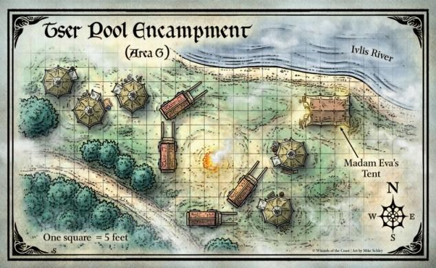 Mike Schley: Curse of Strahd &emdash; Curse of Strahd; ;Tser Pool Encampment (Digital DM & Player Versions) $1.75