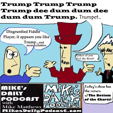 MIKEs DAILY PODCAST 1048 Bernie Trump Disgruntled Fiddle Player