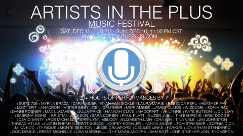 Artists in the Plus Music Festival Poster