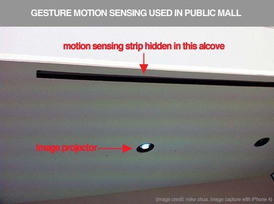 gesture motion sensing use in Mall 544px