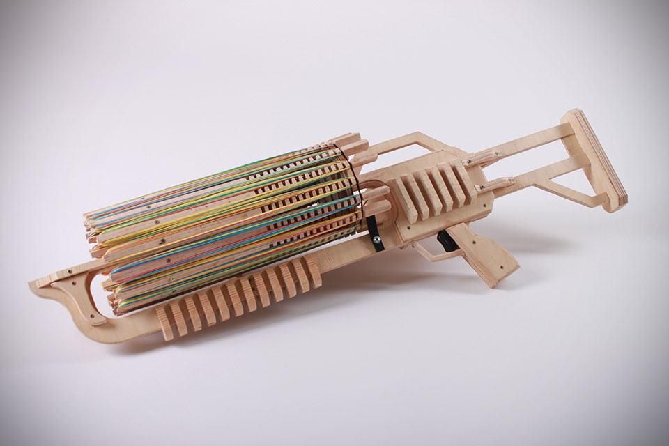 Cardboard Rubber Band Gun