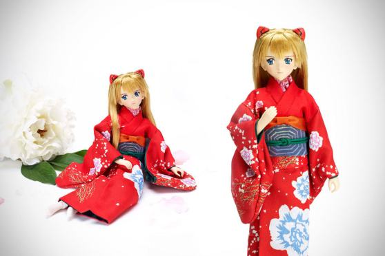 Evangelion Asuka Shikinami Langely with Japanese Sword Doll