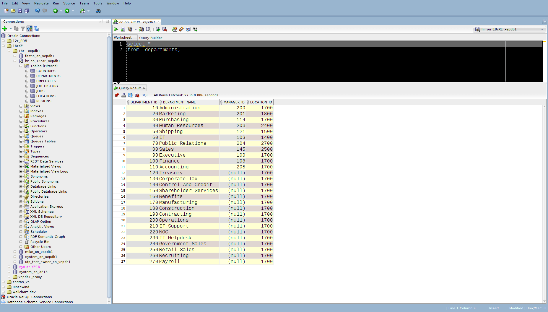 Making Yourself At Home In Sqldeveloper