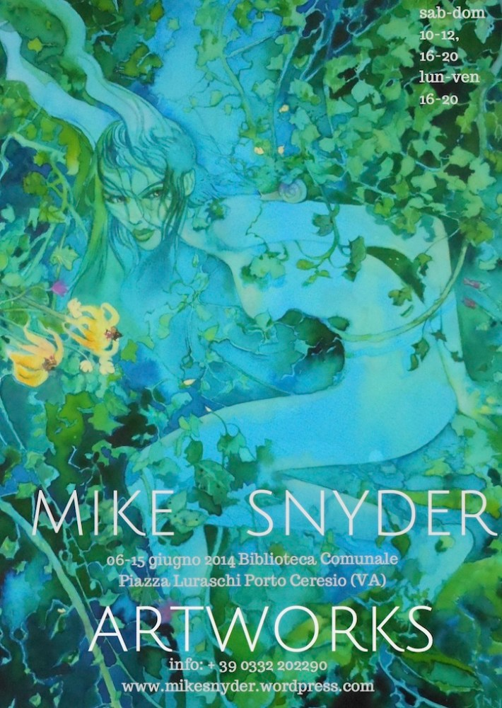 Mike Snyder Artworks 2014, to Sunday 15 June, at Porto Ceresio, on the Italian shores of Lake Lugano