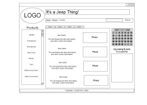 Wireframe Diagram | Mike's Penny For Your Thoughts Blog