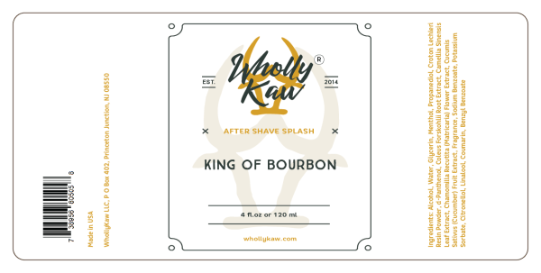 Wholly Kaw King of Bourbon aftershave