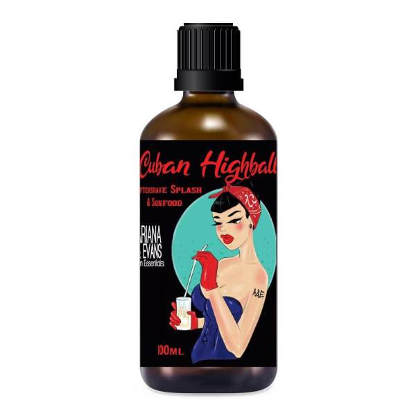 Ariana and Evans Cuban Highball aftershave
