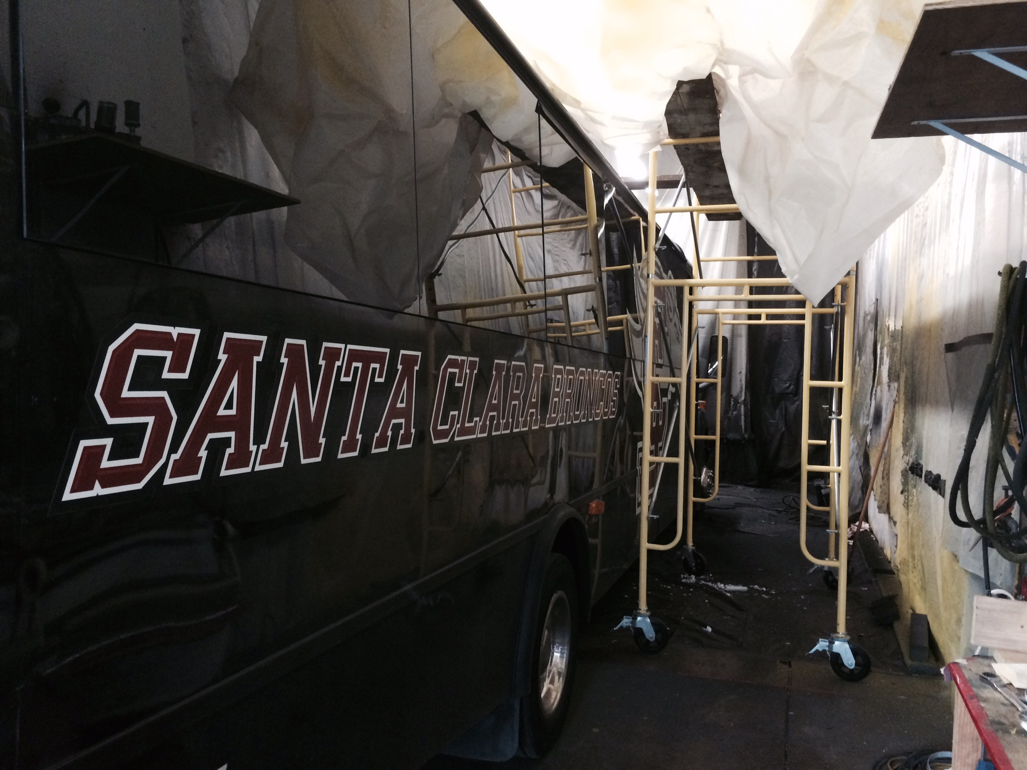 Santa Clara University Bus gets Polyurea 'd