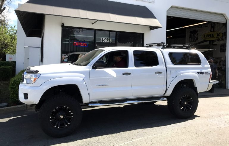 """2012 Toyota Tacoma (After) - Installed 6"""" Fabtech Suspension Lift, 18X9 Monster II Rims, 35X9X12.50 R18 Toyo Open Country AT II Tires"""