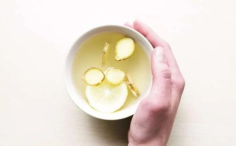 Ginger lemon gut healthy tea